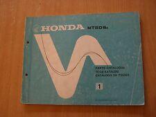 Honda mt 50 s 1980 piezas catálogo parts Catalogue catalogo de piezas