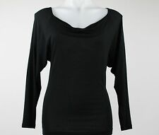 Dries Van Noten Black Long Sleeve Bateau Neck Shape Shirt Size M