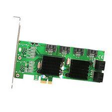 Syba SD-PEX40104 8 Port Sata Iii 6G Pci-E 2.0 X1 Card NEW