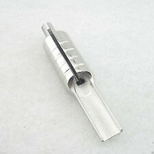 One 25F Stainless Steel Flat Magnum Tattoo Grip With Back Stem Supply MGP01-25F
