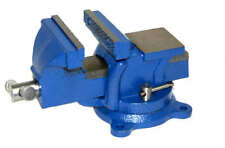 "4"" Bench Vise with Anvil Swivel Locking Base Table top Clamp Heavy Duty Steel"
