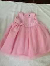 Carter's 6 months baby girl sleeveless dress pink holiday dressy
