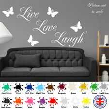 LIVE LAUGH LOVE Wall Quote Butterfly Stickers Home Art Decal Vinyl