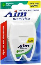 Aim Dental Floss Mint Wax Nylon 120 Yards