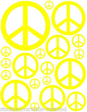 38 YELLOW PEACE SIGN VINYL KIDS BEDROOM DECAL STICKER Tenn Kids Boy Girl Room