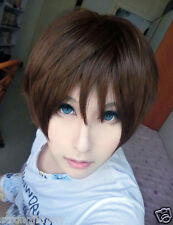 Synthetic Cospaly Attack on Titan-Eren Jaeger Dark Brown Short Lolita Anime Wig*