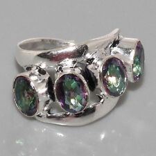 G5681  Mystic Topaz & 925 Silver Overlay Ring Size P