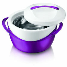 4L Hot Pot Insulated Food Warmer Casserole Thermal Hotpot New Purple