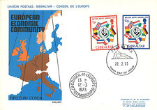 """LE70 : 1973 - FDC 1st Day Gibraltar (United Kingdom) """"EEC membership"""""""