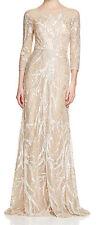 David Meister New Long Sleeve Embellished Gown Size 10 MSRP $995 #EN 910
