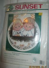 Holly Angel Christmas Tree Skirt Counted Cross Stitch Kit Ruth Morehead 1992