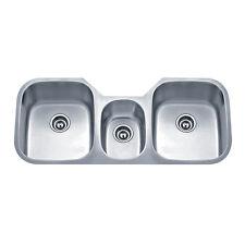 Wells Sinkware Undermount Triple-bowl Stainless Steel Kitchen Sink