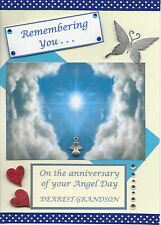 Angel Day Grandson: Graveside Family Memorial Cards