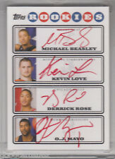 2008 09 Topps RARE Red rc KEVIN LOVE beasley DERRICK ROSE mayo Rookie AUTOGRAPH