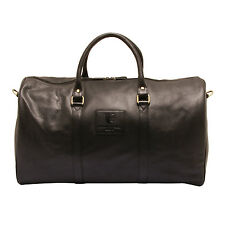 Underwood & Tanner - Black Travel Bag/Holdall in Soft Grained Leather