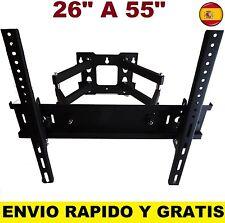 """SOPORTE DE PARED TV LCD LED PLASMA MONITORES PARA 26"""" A 55"""".GIRATORIO INCLINA"""