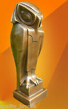 EXCLUSIVE STYLISED BRONZE OWL, BRONZE STATUE BIRD FIGURE CUBIST BOURAINE