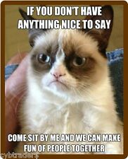 Funny Grumpy Cat Nothing To Say  Refrigerator Magnet