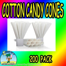 Cotton Candy Cones Plain Gold Medal 200 pcs concession fair carnival supply