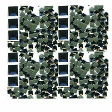 SQUARES Faceted Rhinestuds 5mm  BLACK .Hot Fix 144 PC