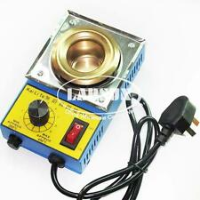 220V 100W Mini Stainless Steel Tin Furnace Lead Free Solder Pot Dia 38mm KLT360