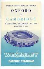 (Gs918-100) Oxford vs Cambridge, Wembley Football Programme 1968 EX