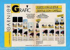 TOP990-PUBBLICITA'/ADVERTISING-1990- GARNIER - GRAFIC -2 fogli