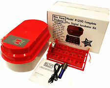 RED RITE FARM 1200 PRO DIGITAL INCUBATOR KIT TURNER THERM/HYGROMETER CHICKEN EGG