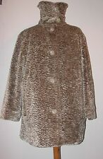NWOT FAUX CURLY LAMB FUR - REVERSIBLE TO QUILTED - BUST 50""