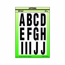 Hy-Ko MM-4L Vinyl  Letter Kit Black On White Self-Adhesive,  3 Inch Letters *