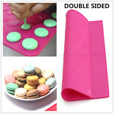 Silicone Baking Mat Large Double Sided Macaron Macaroon Dessert Mold Sheet DIY