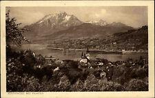 Küssnacht im Kanton Schwyz s/w AK ~1920/30 Gesamtansicht mit Pilatus Schweiz AK