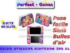 Skin sticker auto-collant vinyl Barbie n°2 pour console nintendo 3DS XL LL
