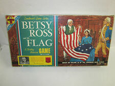 Vintage 1961 Betsy Ross and the Flag Game Board Game Transogram parts