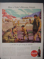 1943 Coca Cola Soda Eskimo Alaska WW2 Soldier Vintage Print Ad 11991