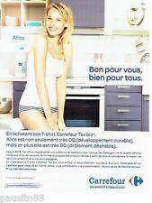 PUBLICITE ADVERTISING 116  2011   Supermarché Hypermarché Carrefour  Tex-bio T-s