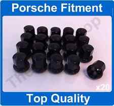 x20 M14 x 1.5 Alloy Wheel Nuts For Porsche 911 912 924 928 944 968 BLACK