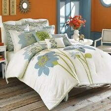 ANTHOLOGY NASHA Twin 2 Piece Floral BLUE/GREEN Comforter Set