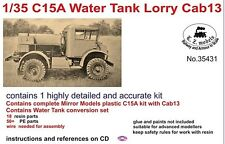 LZ MODELS C15A WATER TANK LORRY CAB 13 + RESIN SET Scala 1/35 Cod.35431