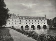 1927 Vintage FRANCE Chateau de Chenonceau River Architecture Photo By HURLIMANN