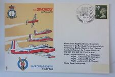 GREAT BRITAIN COVER RAFA DISPLAY EXETER 1974 THE SWORDS JET PROVOST