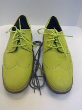 Cole Haan LunarGrand Wing Tip Volt Green Suede Grey Sole Men 11 $248 NIB C11500