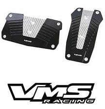 VMS RACING ALUMINUM PEDAL PAD COVER KIT AUTO TRANSMISSION AT 2PC - BLACK #3