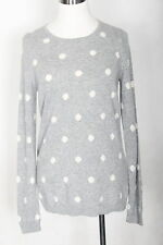 WOMEN 100% CASHMERE SWEATER TALBOTS GRAY SIZE S NWT (#2733)