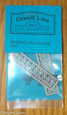 Grandt Line HO #5065 Mosonic Hall Railing (HO Scale)