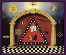 Masonic Emblematic Chart Print Art Poster Ring Freemasons Mason Scottish Rite