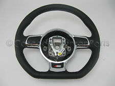 New OEM Audi Flat Bottom Black Leather Aluminum Steering Wheel 8P A4 TT S3 S4 A6
