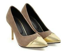 Ladies Sexy Stilettos Pointy toe Head Office Pumps Shoes Pull on Dress Shoe Y517