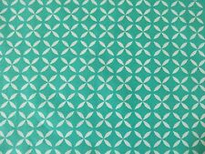 STOF IRMA BLUE TEAL RETRO PRINT DRESSMAKING QUILTING PATCHWORK CURTAIN FABRIC