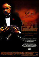 THE GODFATHER (1972) ORIGINAL MOVIE POSTER 25th ANNIVERSARY VIDEO ROLLED
